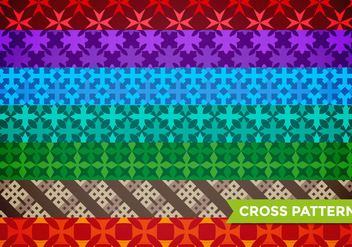 Maltese Cross Pattern Vector - Free vector #372941