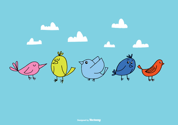 Hand Drawn Bird Vectors - vector gratuit #372991