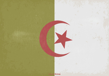 Vintage Flag of Algeria - Free vector #373141