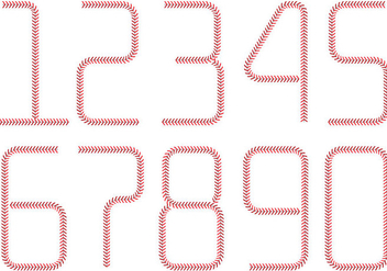 Baseball Lace Numbers - vector #373151 gratis