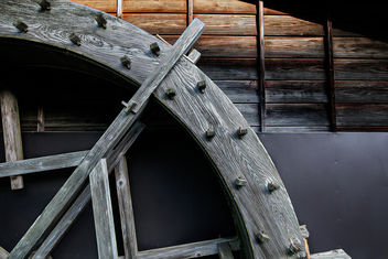 Water Wheel at O-Tsumago - image gratuit #373211