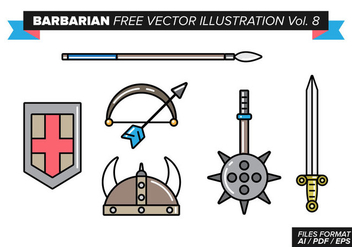 Barbarian Free Vector Illustration Vol. 8 - vector gratuit #373281
