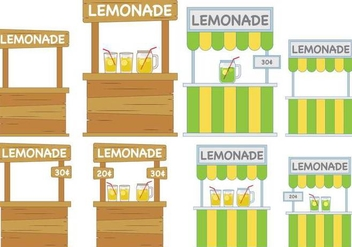 Lemonade Stand - vector #373311 gratis