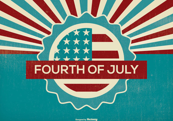 Retro Fourth of July Illustration - бесплатный vector #373331