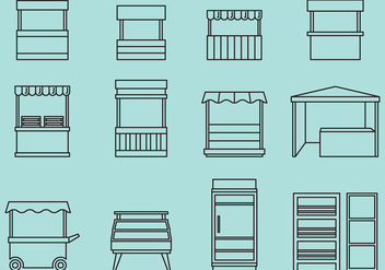 Stand And Rack Icons - vector #373341 gratis