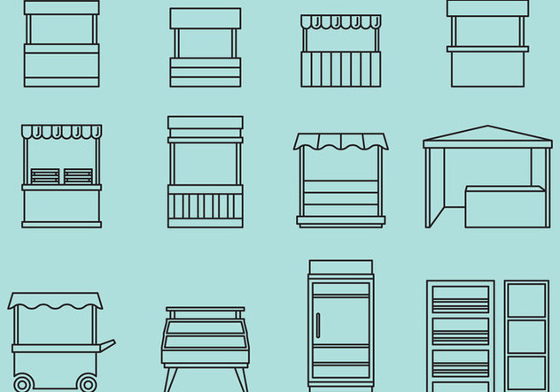 Stand And Rack Icons - Kostenloses vector #373341