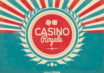 Retro Style Casino Royale Illustration - Kostenloses vector #373381