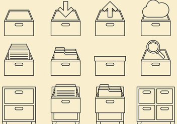 Cabinet Line Icons - vector #373401 gratis