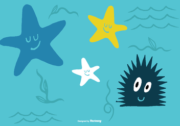 Sea Creature Vectors - бесплатный vector #373431