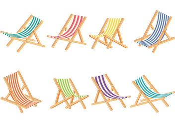 Deck Chair Vector - Free vector #373461