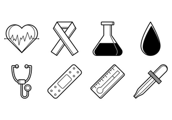 Free Medical Stuff Icon Vector - vector gratuit #373591