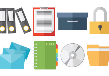 Free File Cabinet Icons Vector - бесплатный vector #373611