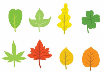 Hojas Icon Set Two - бесплатный vector #373621