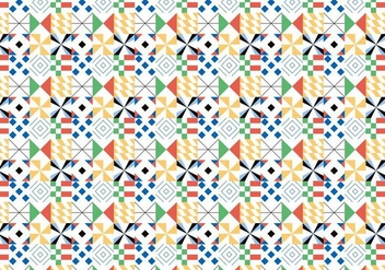Colorful Geometric Pattern - vector gratuit #373651