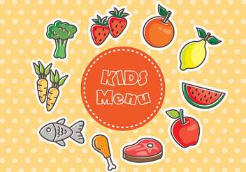 Fresh Kids Menu Food Vectors - vector gratuit #373831