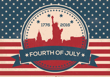 Fourth of July Illustration - vector gratuit #373901