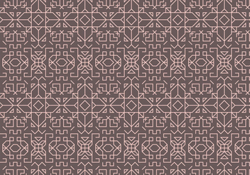 Outline Geometric Pattern - vector gratuit #373911