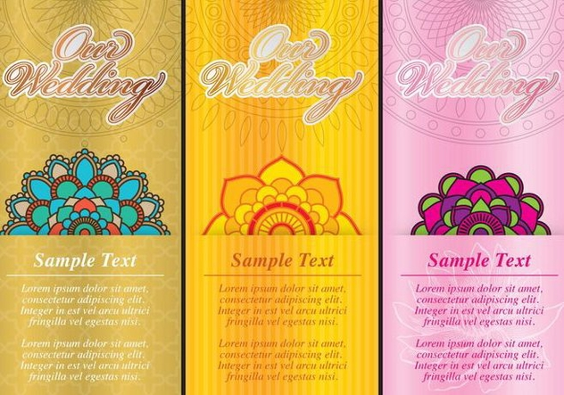 Indian Wedding Cards - Kostenloses vector #374031