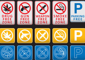 Free Zone Signs - vector gratuit #374041
