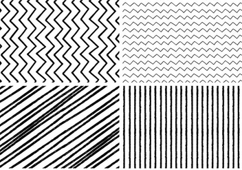 Hand Drawn Style Seamless Patterns - бесплатный vector #374051