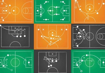 Sport Playbook Vector Set - бесплатный vector #374091