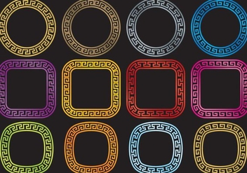 Circular Greek Keys - vector #374151 gratis