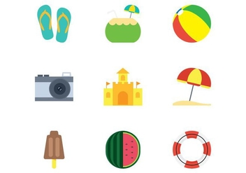 Beach Flat Icon - Free vector #374181