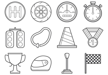 Free Racing Icon Vector - Kostenloses vector #374201