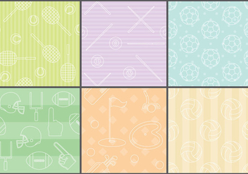 Line Icon Sport Patterns - Free vector #374211