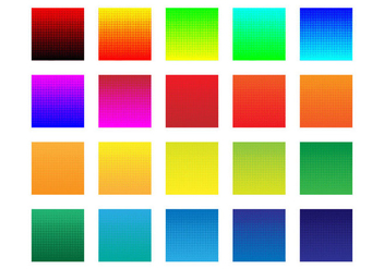 Free Colorful Halftone Background Vector - Free vector #374221