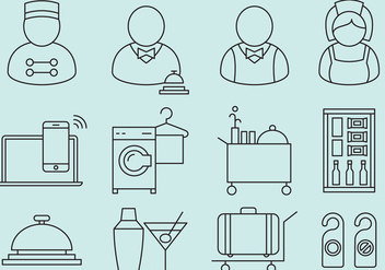 Hotel Staff And Service Icons - vector #374321 gratis