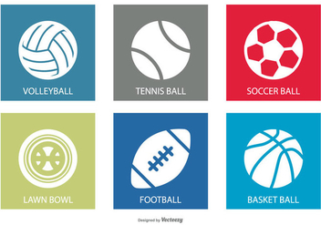 Sports Ball Icon Set - vector gratuit #374331