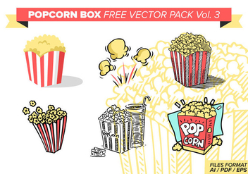 Popcorn Box Free Vector Pack Vol. 3 - vector #374351 gratis