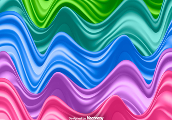 Silk Waves Set - Vector Illustration - Free vector #374361