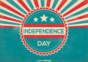 Retro Independence Day Illustration - vector gratuit #374411