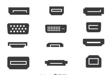 Multimedia Port Collection Vector - vector gratuit #374451