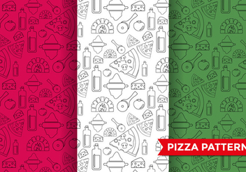 Pizza Pattern Vector - vector gratuit #374461