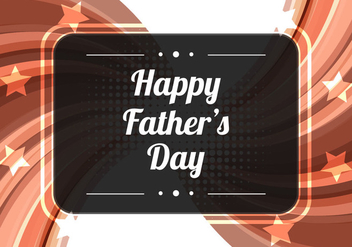 Free Vector Brown Modern Father's Day Background - Free vector #374471