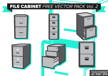File Cabinet Free Vector Pack Vol. 2 - Kostenloses vector #374481