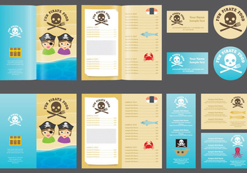 Pirate Kids Menu - vector gratuit #374581
