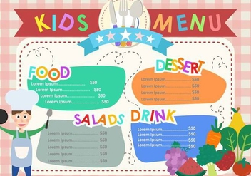 Kids Menu Templates - vector #374621 gratis