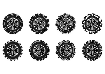 Free Tractor Tire Icon Vector - бесплатный vector #374671