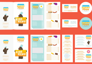 Kids Menu - vector #374681 gratis