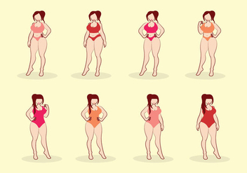 Free Girl Plus Size Vector - Free vector #374741