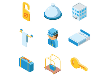 Free Isometric Hotel Vector - Free vector #374761