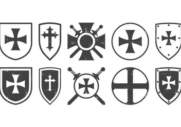 Classic Templar Badge - vector #374771 gratis
