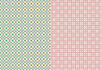 Stitch Geometric Pattern - vector #374911 gratis