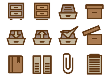 File Cabinet Vector - Free vector #375041