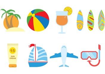 Beach Icon Vector 3 - Free vector #375051