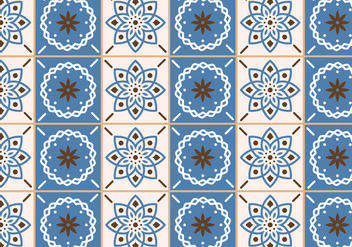 Beige and Blue Tiles - Free vector #375171